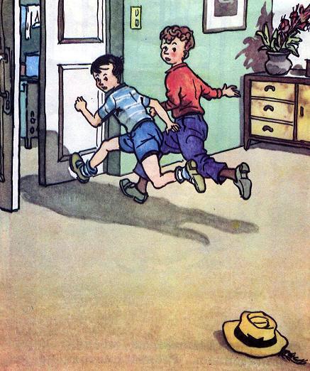 Вовка и Вадик убежали из комнаты