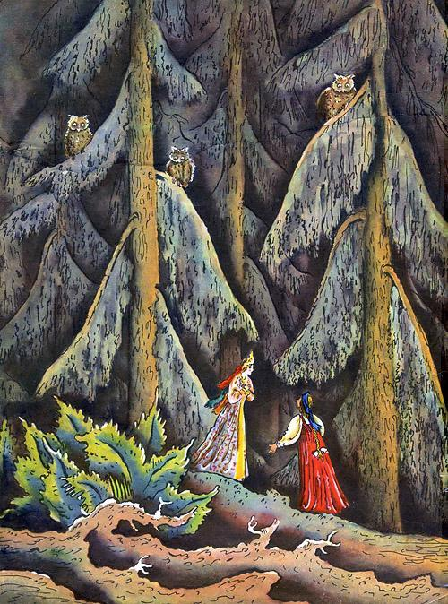 девица в лесу