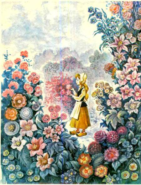 Герда в цветнике