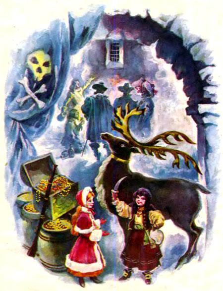 Герда и разбойница с оленем