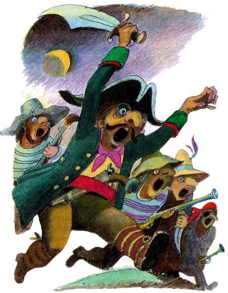 пираты идут в атаку