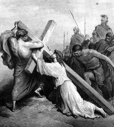 Иисус под тяжестью креста
