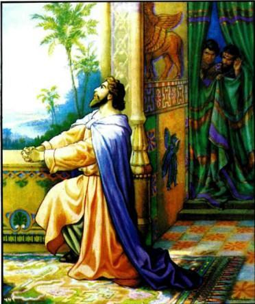 Даниил молится