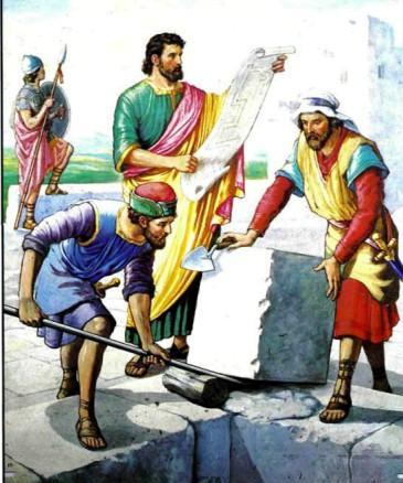 Неемия строит стены Иерусалима