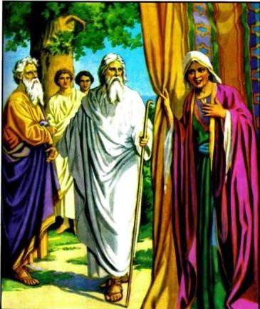 Три Божиих вестника у Авраама.