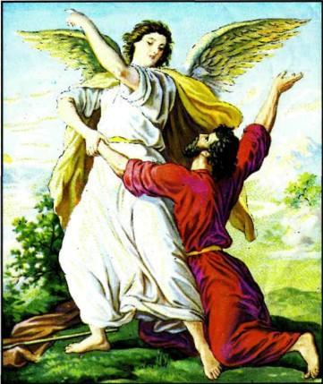 """Иаков """"борется"""" с Богом с ангелом"""