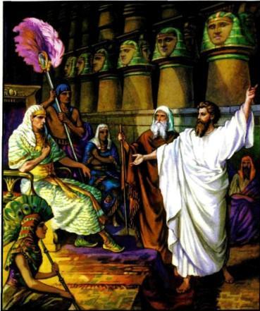Моисей и Аарон перед фараоном