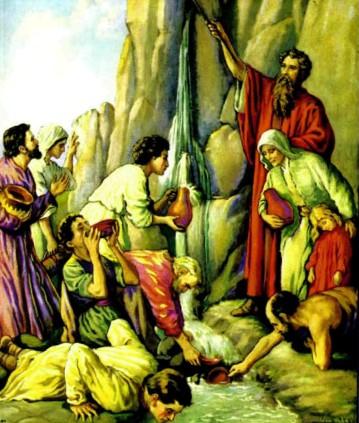 Моисей добывает воду из скалы