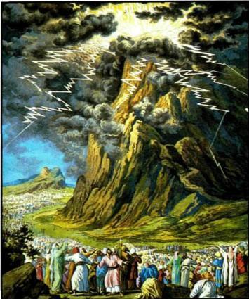 Десять заповедей раскаты молний на вершине горы