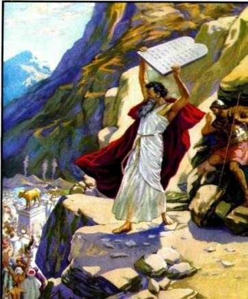 моисей разбивает Золотого тельца