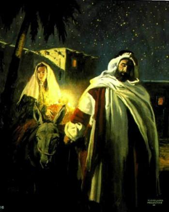 Бегство в Египет. иосиф и Мария