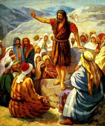 Иоанн проповедует и крестит
