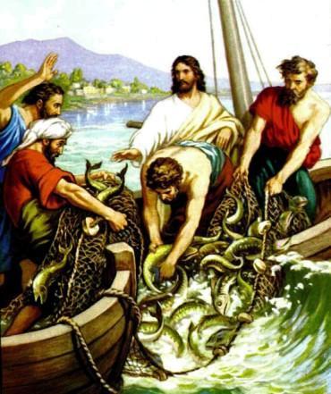 христос ловить рыбу