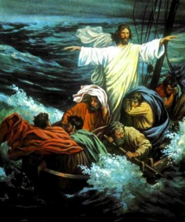 Иисус укрощает бурю на озере
