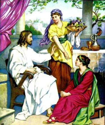 Иисус Христос Сестры Марфа и Мария