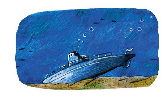 остовы подводных лодок