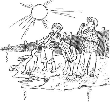 дети на берегу