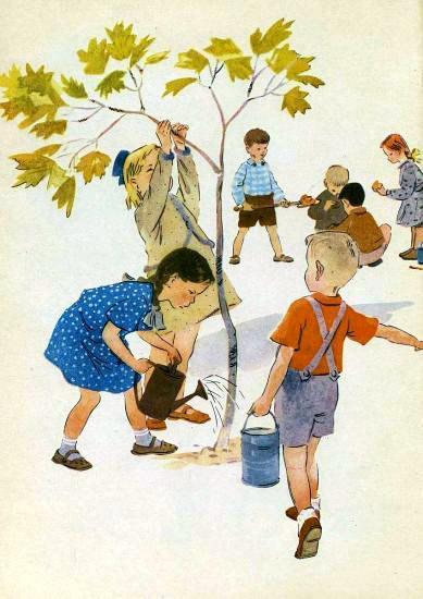 Дети сажают деревья картинки 58