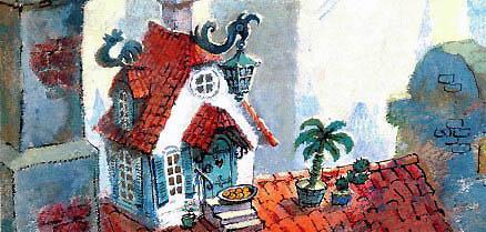 домик карлсона на крыше