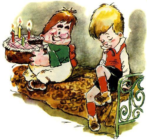 Карлсон картинки с тортиком