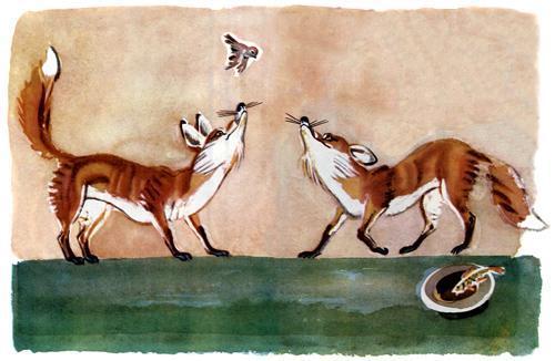 воробей и лисы