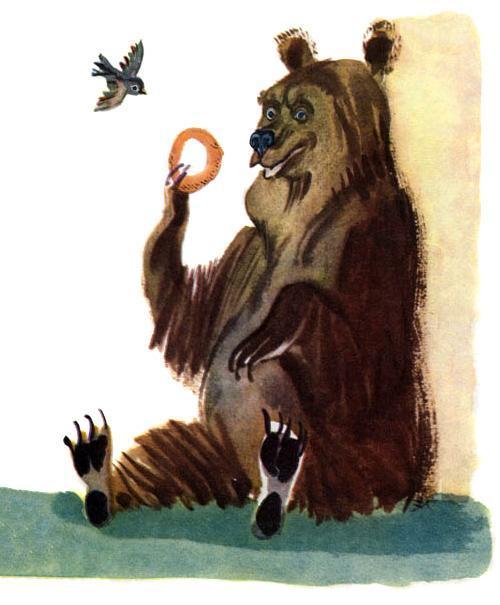 воробей и медведь
