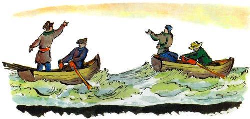 лодки по морю плывут люди веслами гребут картинки
