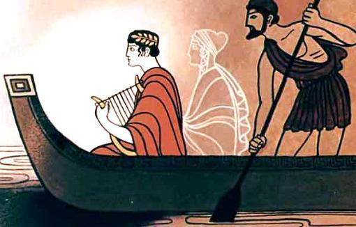 Орфей и Эвридика в лодке Харона