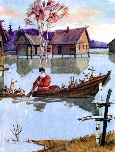 сколько зайцев в лодке у мазая