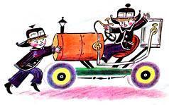 Винтик и Шпунтик и их новый автомобиль