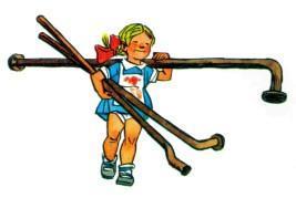 девочка Ниночканесет железные трубы лом