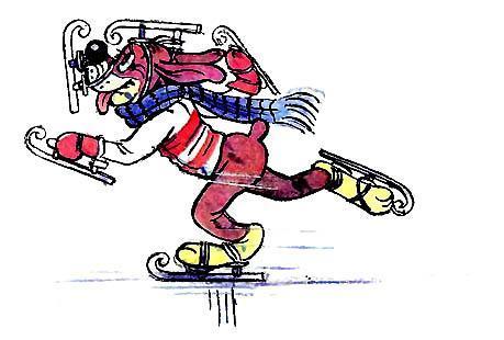 Пиф в коньках