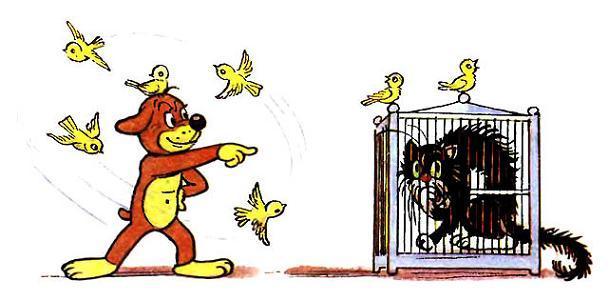 Пиф запер кота в клетке