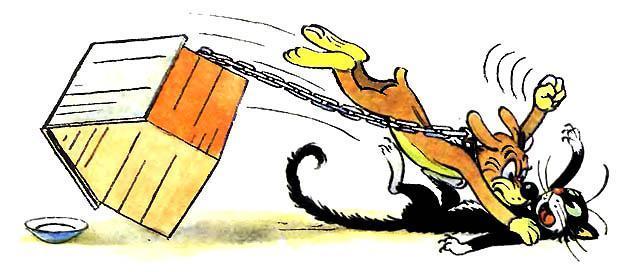 Пиф поймал кота