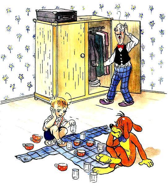 Пиф и дуду играют в шашки чашками