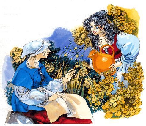 младшая дочка и  фея