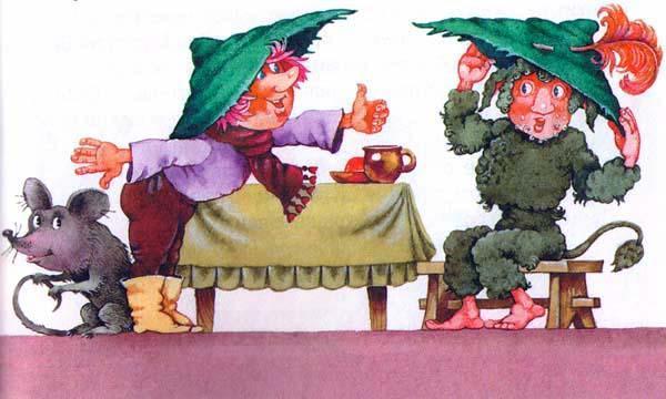 Гном Хёрбе и Цвоттель примеряет шляпу