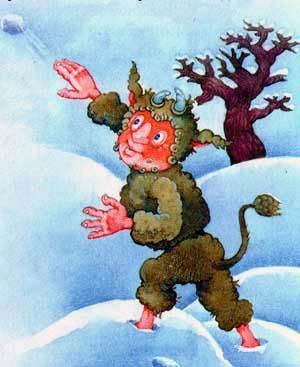 Цвоттель играет в снежки