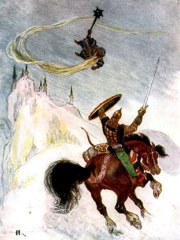 Рисунок бой руслана с головой отрывок из поэмы руслан и людмила читать - b54