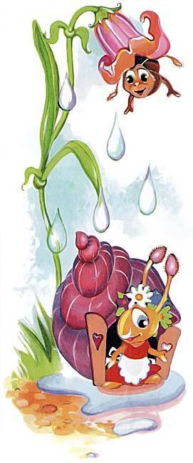 Стих про улитку дождик лил как из ведра