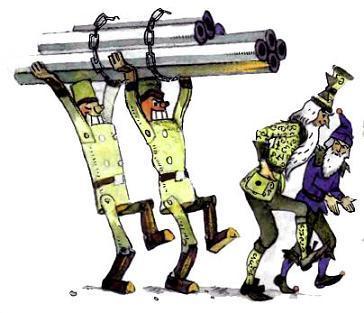 деревянные солдаты носят трубы