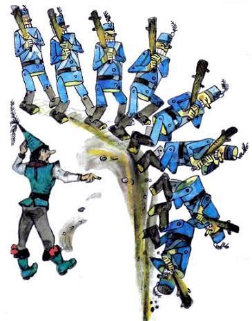 Урфин Джюс деревянные солдаты падают в пропасть