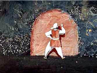 Касим у пещеры разбойников