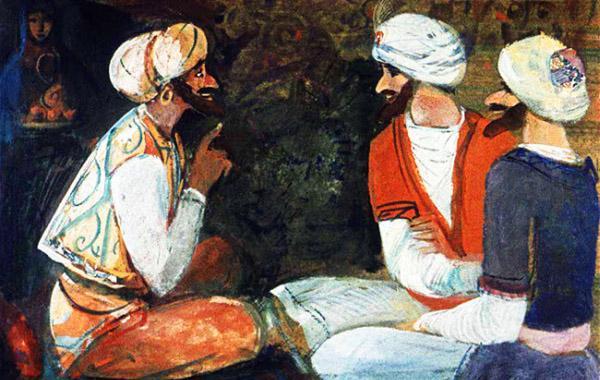 Синдбад-мореход и путники