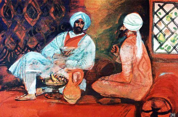 Мансур привел Синдбада-морехода к себе в дом
