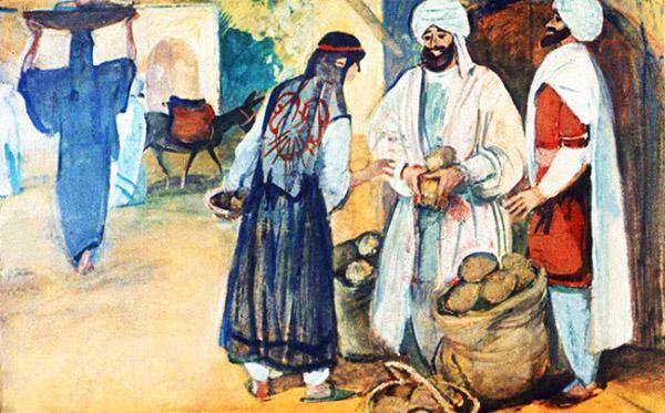Синдбад-мореход и Мансур продают кокосовые орехи