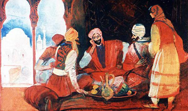 Синдбад-мореход с купцом Мансуром отправились на родину